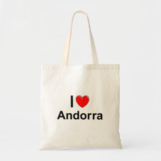 I Love Heart Andorra Tote Bag