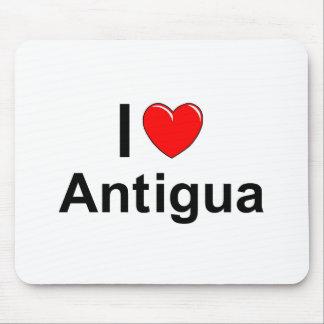 I Love Heart Antigua Mouse Pad