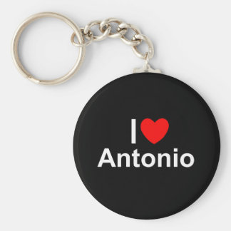 I Love (Heart) Antonio Keychain