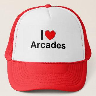I Love Heart Arcades Trucker Hat
