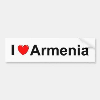 I Love Heart Armenia Bumper Sticker