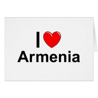 I Love Heart Armenia Card