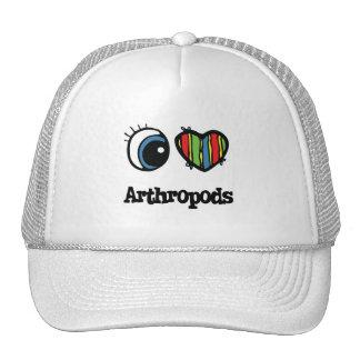 I Love (Heart) Arthropods Hats