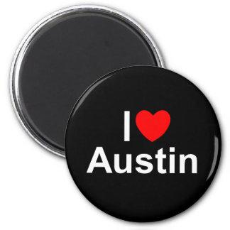I Love (Heart) Austin Fridge Magnets