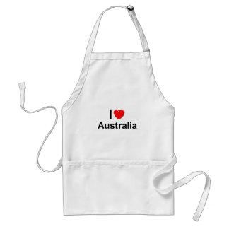 I Love Heart Australia Standard Apron