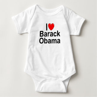 I Love (Heart) Barack Obama Baby Bodysuit