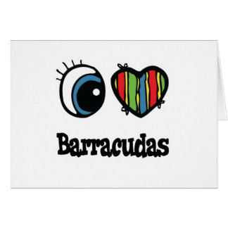 I Love (Heart) Barracudas Card