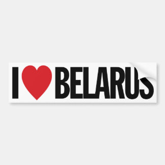 "I Love Heart Belarus 11"" 28cm Vinyl Decal"