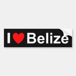 I Love Heart Belize Bumper Sticker