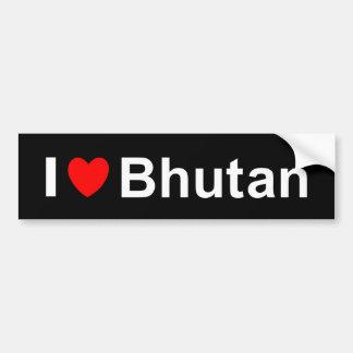 I Love Heart Bhutan Bumper Sticker