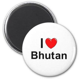 I Love Heart Bhutan Magnet