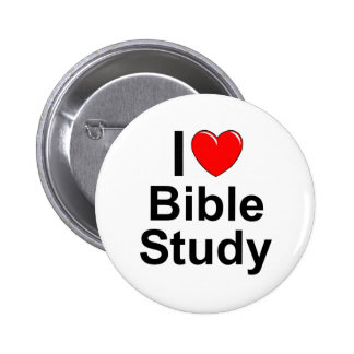 I Love (Heart) Bible Study 2 Inch Round Button