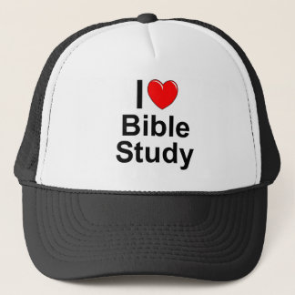 I Love (Heart) Bible Study Trucker Hat