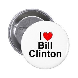 I Love (Heart) Bill Clinton 2 Inch Round Button
