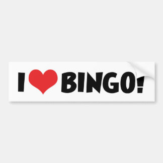 I Love Heart Bingo! - Bingo Lovers Bumper Sticker