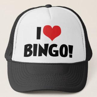 I Love Heart Bingo! - Bingo Lovers Trucker Hat