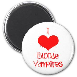I Love (heart) Blonde Vampires Magnet