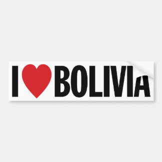 "I Love Heart Bolivia 11"" 28cm Vinyl Decal Bumper Sticker"