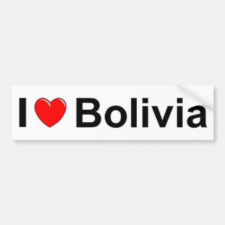 I Love Heart Bolivia Bumper Sticker