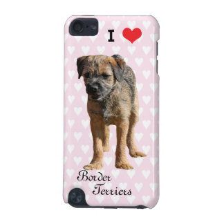 I love heart border terriers ipod touch 4G case