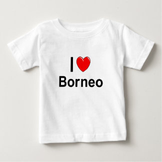 I Love Heart Borneo Baby T-Shirt