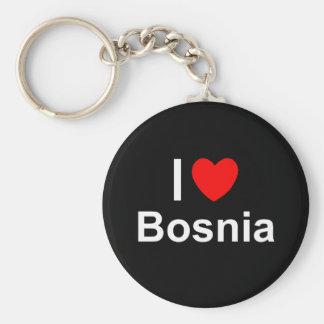 I Love Heart Bosnia Keychain