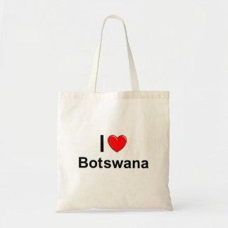 I Love Heart Botswana Tote Bag