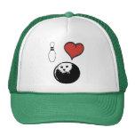 I Love (heart) Bowling Trucker Hat