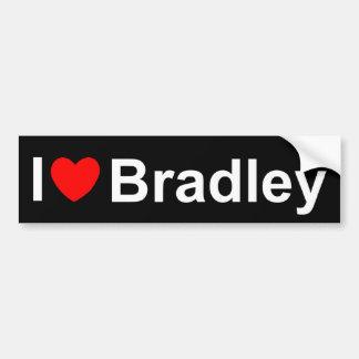 I Love (Heart) Bradley Bumper Sticker