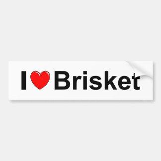 I Love Heart Brisket Bumper Sticker