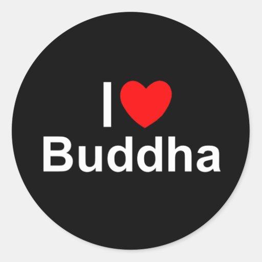 I Love (Heart) Buddha Sticker