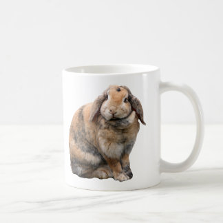 I love heart bunnies, rabbit lop-eared mug, gift coffee mug