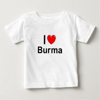 I Love Heart Burma Baby T-Shirt