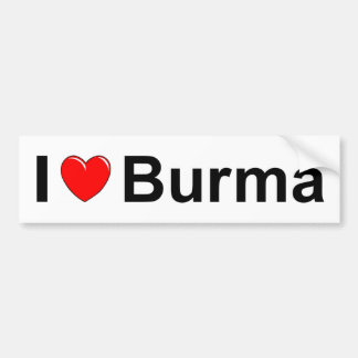 I Love Heart Burma Bumper Sticker