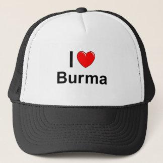 I Love Heart Burma Trucker Hat