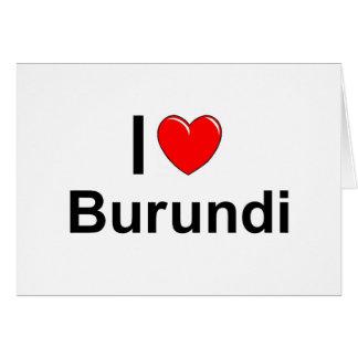 I Love Heart Burundi Card