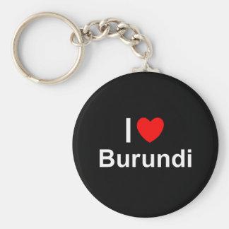 I Love Heart Burundi Keychain