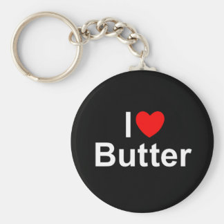 I Love (Heart) Butter Keychain