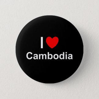 I Love Heart Cambodia 2 Inch Round Button