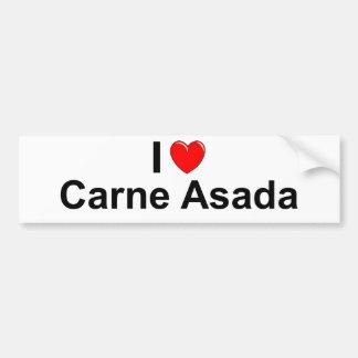 I Love Heart Carne Asada Bumper Sticker