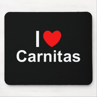I Love Heart Carnitas Mouse Pad