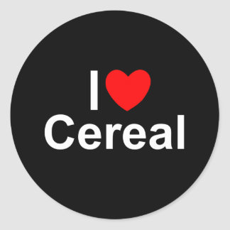 I Love (Heart) Cereal Classic Round Sticker