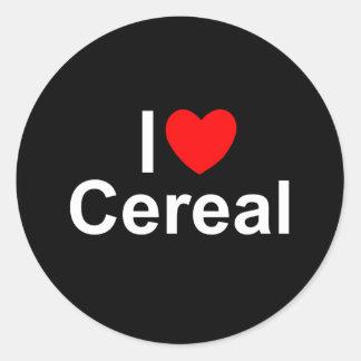 I Love (Heart) Cereal Round Sticker