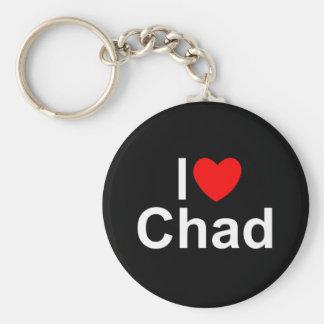 I Love (Heart) Chad Keychain