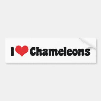 I Love Heart Chameleons - Lizard Lover Bumper Sticker