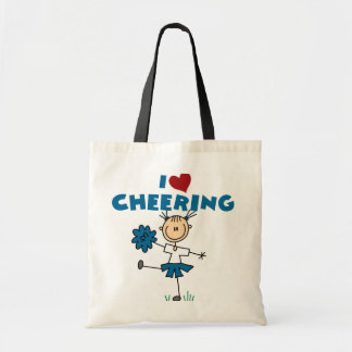 I Love (Heart) Cheering Tote Bag