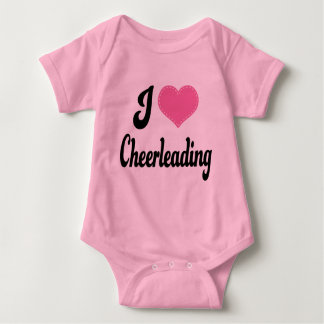 I Love (Heart) Cheerleading Baby Bodysuit
