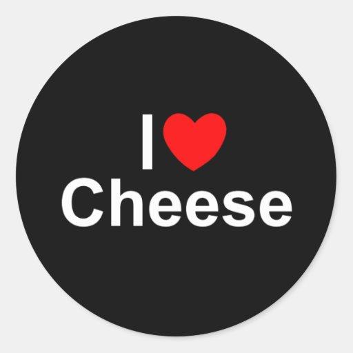 I Love (Heart) Cheese Sticker