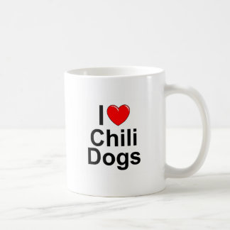 I Love (Heart) Chili Dogs Coffee Mug