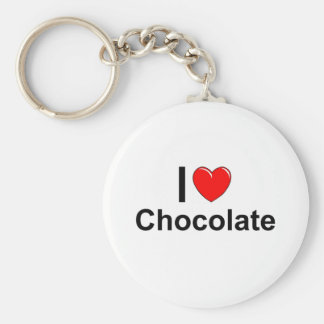 I Love Heart Chocolate Keychain